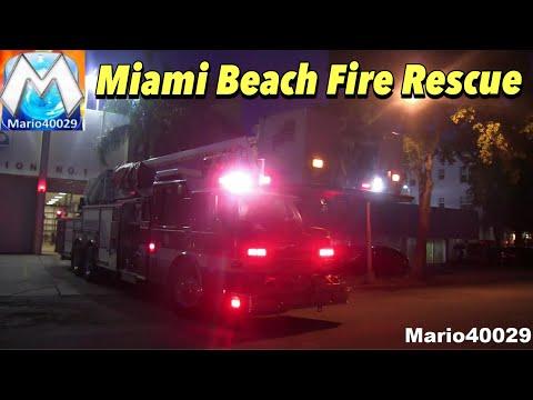 [FULL HOUSE RESPONSE] Engine 1 + Ladder 1 + Rescue Miami Beach Fire