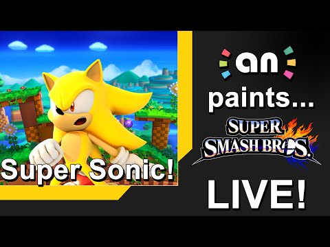 Amiibo News Live: Super Sonic Painting. Begins 9:00 PM CST