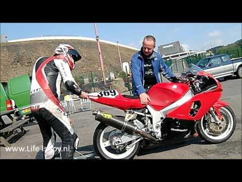 Belgium Spa Francorchamps Circuit onboard BMW R1200GS K1200R Suzuki 1000 motorcycle motorbike LV