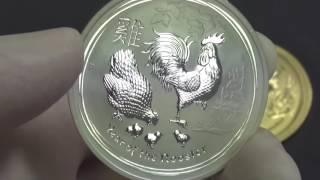 Australia's 2017 Year Of The Rooster Bullion Coins