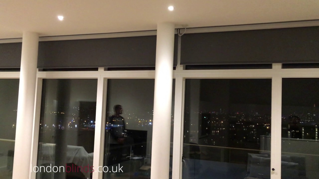 Screen Fabric Roller Blinds Large Windows 240v Youtube