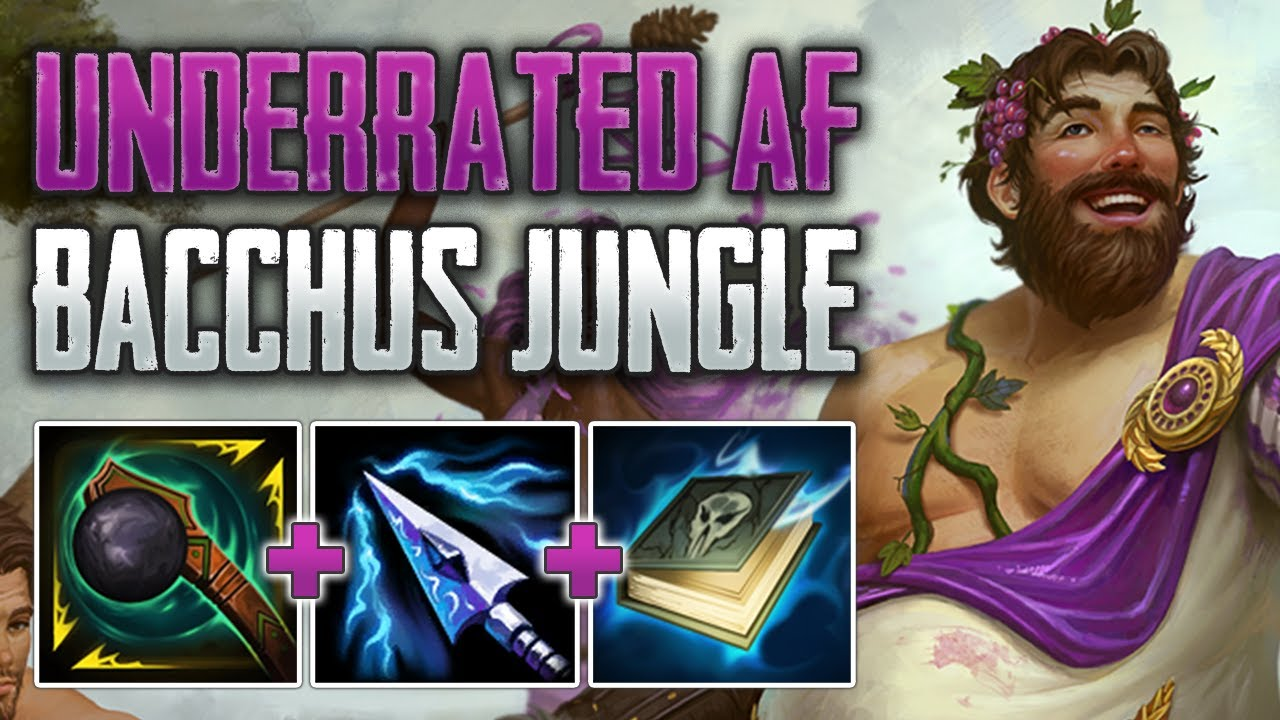 UNDERRATED GUARDIAN JUNGLE! Bacchus Jungle Gameplay (SMITE Conquest)