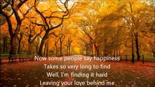 Barry Manilow - I can't smile without You with Lyrics
