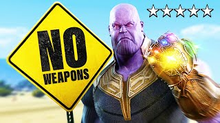 I Tried Playing GTA 5 As THANOS Without Breaking Any Laws!