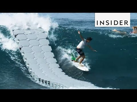 Dock Helps Surfers Catch Waves