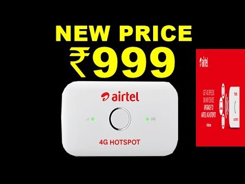 Airtel Slashes Price of Airtel 4G hotspot by 50% to Match Up With Reliance  JioFi