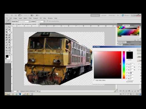photoshop : การตัดภาพส่วนที่ไม่ต้องการออก และเปลี่ยนสีพื้นหลัง