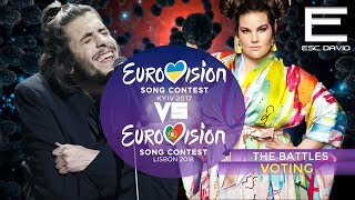 VOTING | 2017 vs 2018 Grand Final Results | Eurovision Song Contest 2017/2018