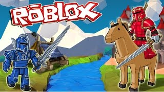 Roblox | MEDIEVAL CASTLE WARS - Roblox Valor! (Knights, Horses, Catapults)