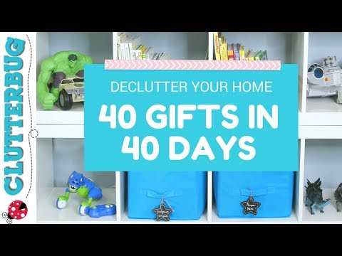 Declutter your home with the 40 Gifts in 40 Days Challenge