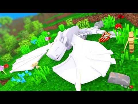 Minecraft: MINHA FURIA DA LUZ MORREU  - COMO TREINAR SEU DRAGÃO  ‹ LOKI ›
