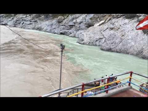 DevPrayag: Sangam of Mandakini and Alaknanda to form Gange - June 2016
