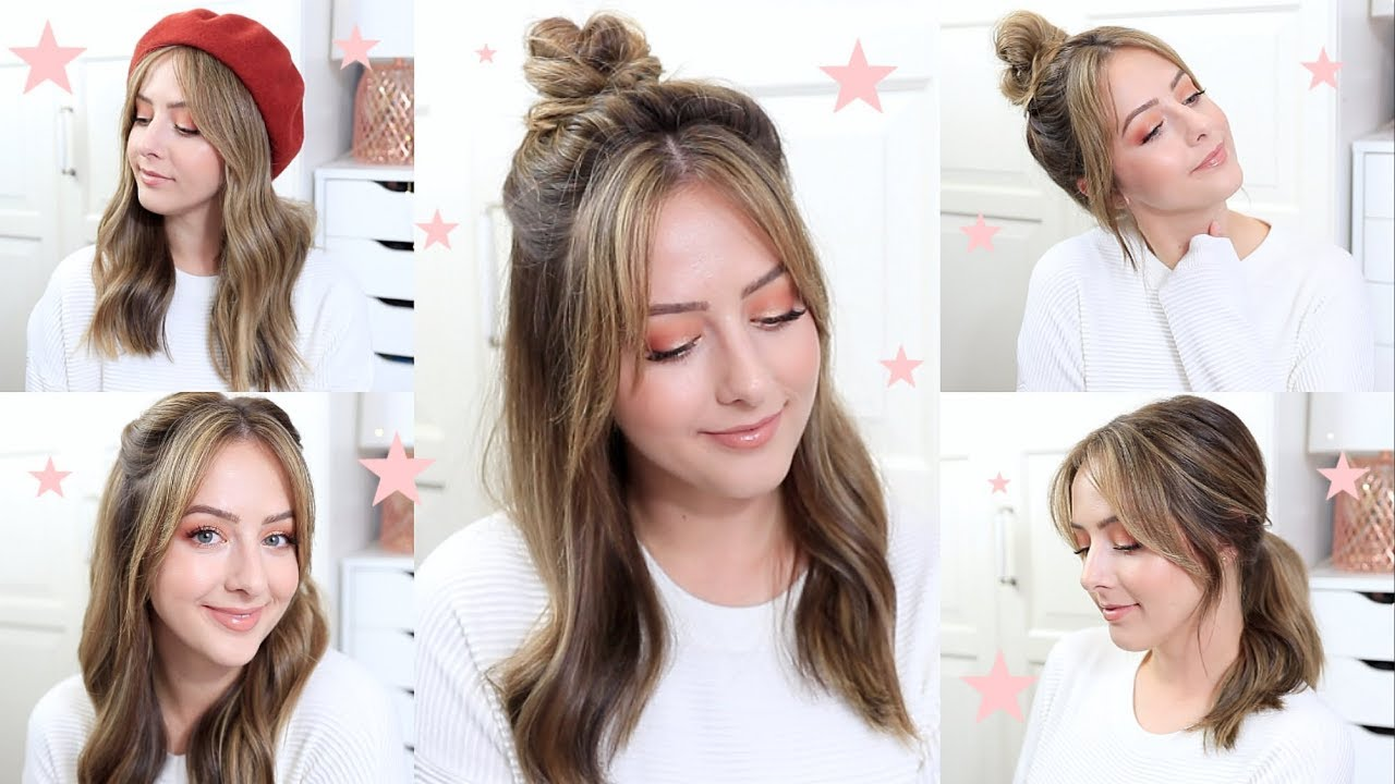 Easy Everyday Hairstyles For Bangs Youtube