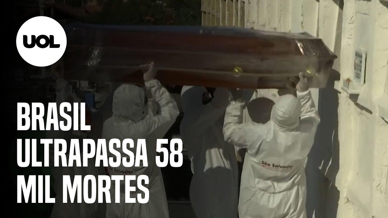 COM 727 NOVAS MORTES POR CORONAVÍRUS EM 24H, O TOTAL DE ÓBITOS CHEGA A 58.385, MOSTRA CONSÓRCIO - online