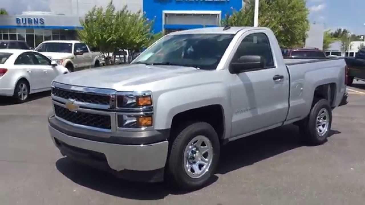 2014 chevrolet silverado regular cab silver burns chevrolet cadillac rock hill sc charlotte nc. Black Bedroom Furniture Sets. Home Design Ideas