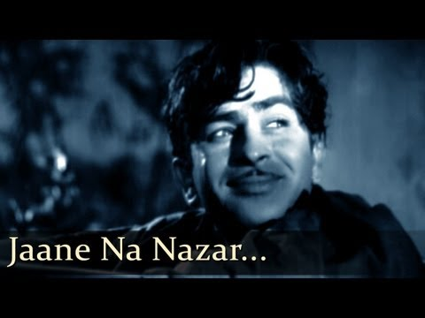 Aah  Jaane Na Nazar  Raj Kapoor  Nargis  Bollywood Romantic Songs  Lata Mangeshkar  Mukesh