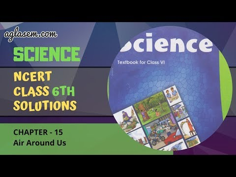 NCERT Solutions Class 6 Science Chapter 15: Air Around Us