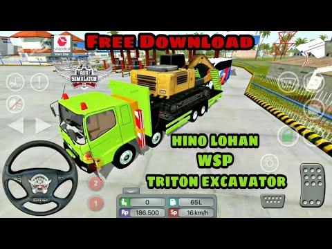 #3   Bus Simulator Indonesia   Mod   New Truck Hino lohan WSP triton  excavator   Android Gameplay