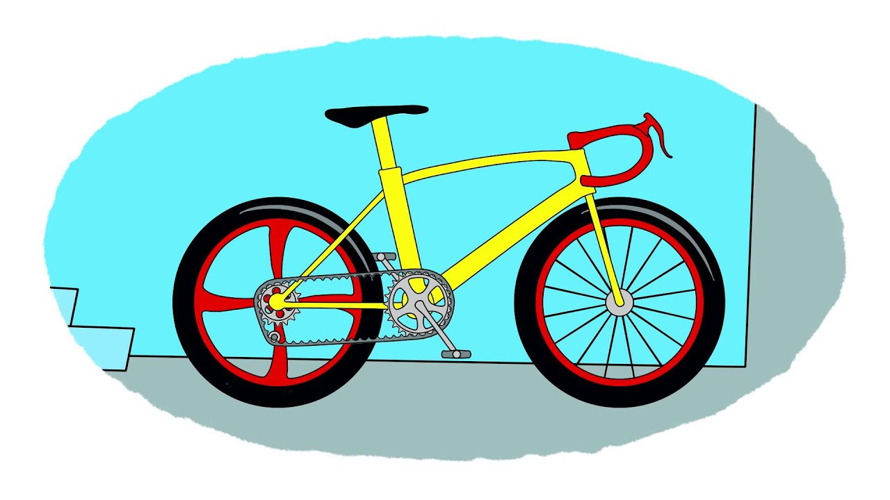 Cartoni animati coloriamo insieme le biciclette youtube