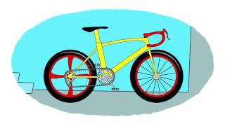 Cartoni animati.-Coloriamo insieme.-Le biciclette.