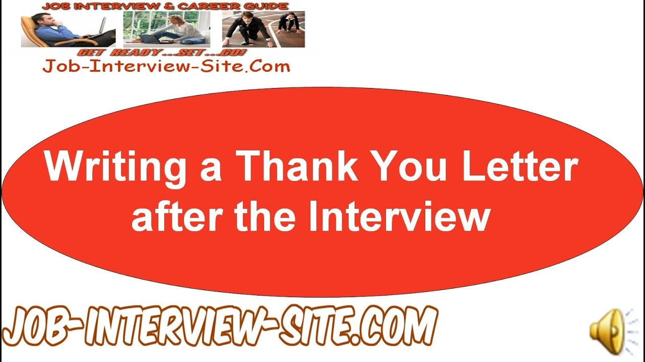 Writing a thank you letter after the interview youtube expocarfo Choice Image