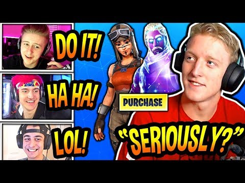 Streamers React To Tfue Having To BUY *EVERY SKIN* Because BURSTS Got *VAULTED!* (FUNNY) Fortnite BR