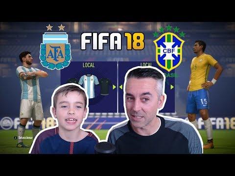 DUELO ARGENTINA vs BRASIL: FIFA 18