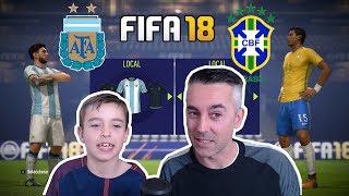 Download Video DUELO ARGENTINA vs BRASIL: FIFA 18 MP3 3GP MP4