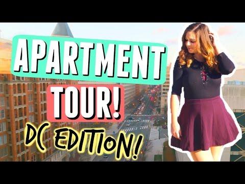APARTMENT TOUR WASHINGTON DC!! THE BEST CITY VIEW EVER + EXPLORING DC TRAVEL VLOG!