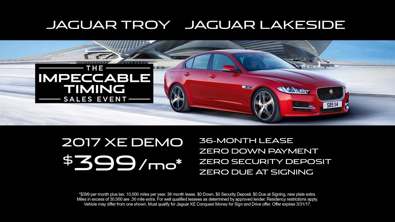 jaguar lakeside / jaguar of troy - march - xe demo & f-pace offers