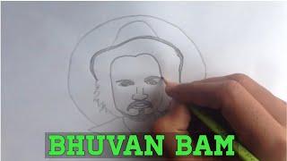 How to draw Bhuvan Bam - BB ki vines 2018