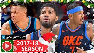 Russell Westbrook, Paul George & Carmelo Anthony BIG 3 Highlights vs Sixers (2017.12.15) - AMAZING!
