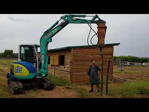 Clavar postes de madera para vallas youtube - Postes de madera ...
