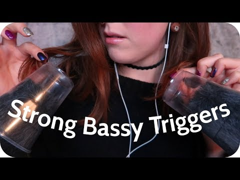 ASMR STRONG Experimental Triggers :: Cups On Your Ears, Cork Scratching, and Other Bassy Sounds