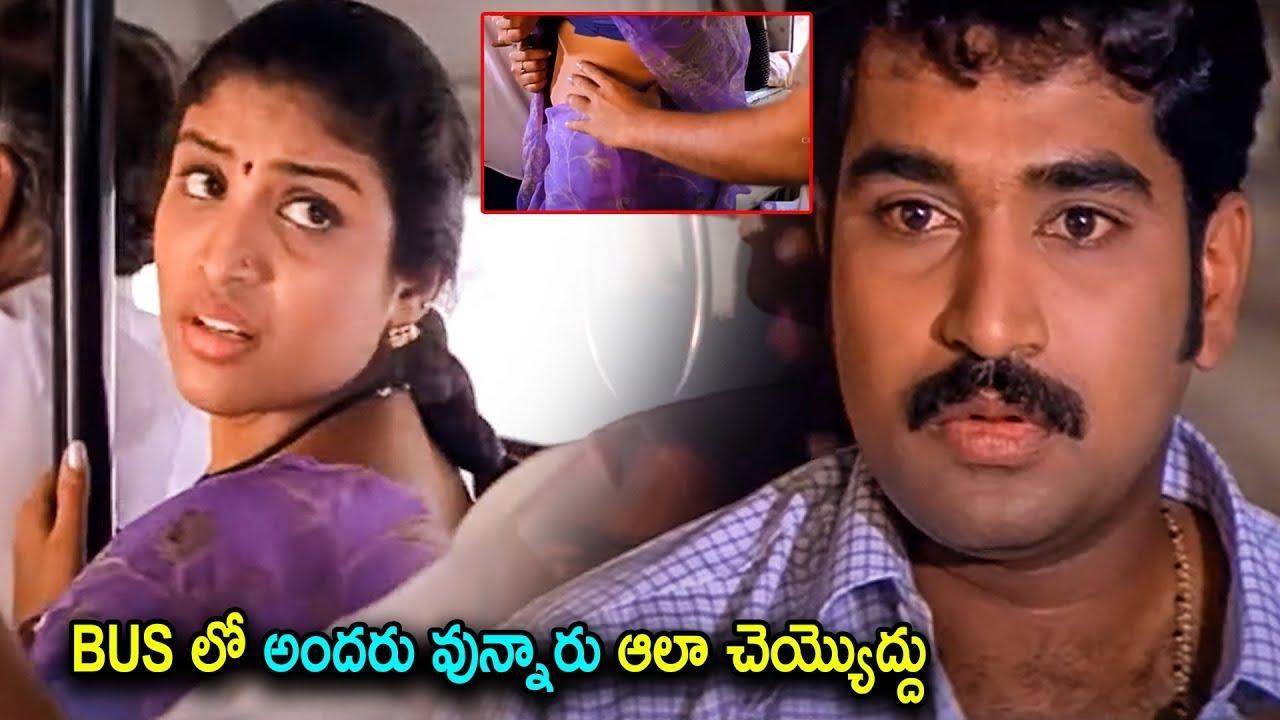 Download Character Artist Uma & Rajiv Kanakala Bus Scene | Telugu Movies | Cinema House