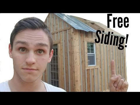 Building a Shed on a Budget part 6! (DIY reclaimed siding)