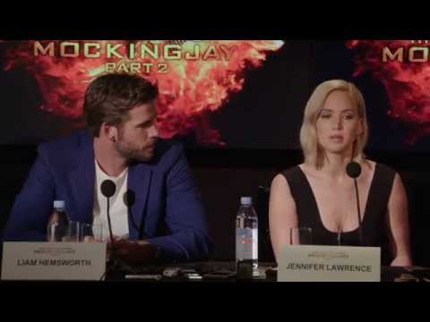 The Hunger Games: Mockingjay Part 2: Press Conference - Jennifer Lawrence, Josh Hutcherson