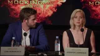 The Hunger Games: Mockingjay Part 2: Press Conference - Jennifer Lawrence, Josh Hutcherson