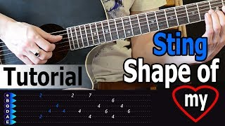 Sting - Shape of my heart  Easy Guitar Tutorial
