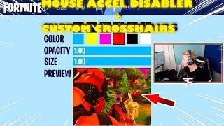 Fortnite[Imrpove Aim]Tfue Custom Crosshairs + Mouse acceleration disabaler!!