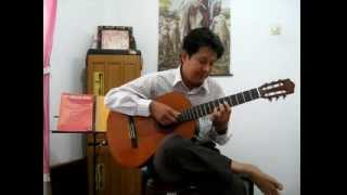 Bareh Solok - Indonesia Traditional Song - Solo Guitar By Andrianto