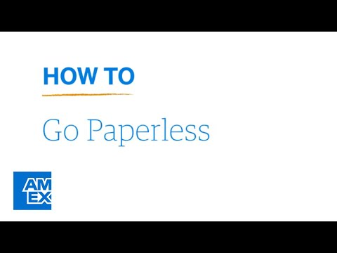 Learn How to Go Paperless: AmericanExpress.com  American Express