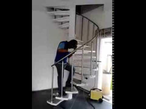 Fabrica??o e montagem de escada caracol em Curitiba - Serralheria ...