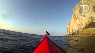 13/7/13 Out to The Bass Rock in the Sea Kayak gopro hero black edition on 1080 30