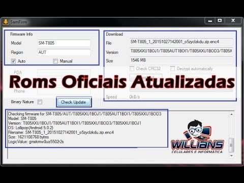 Firmware Stock Rom Oficial, SamFirm, Rons Atualizadas