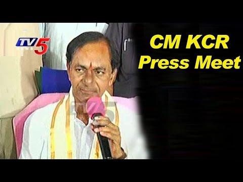 CM KCR Press Meet On New Districts Formation | Telangana | TV5 News