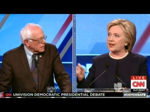BERNIE SANDERS vs HILLARY CLINTON Foreign Language Channel Democratic Presidential Debate
