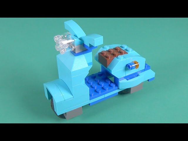 Lego Scooter Motorcycle Building Instructions - Lego Classic 10698