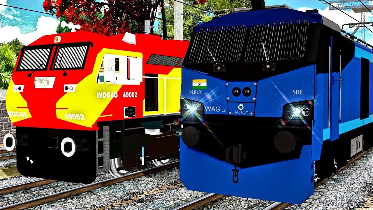 WAG12 EMERGENCY PETROL Wagons WAG9 FAILED || India's Most Powerful Loco MSTS