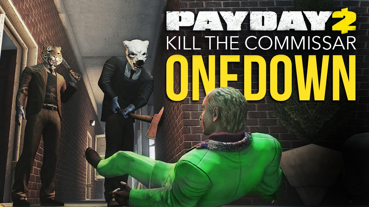 Payday 2 One Down - Kill the Commissar (Hotline Miami) Computerface